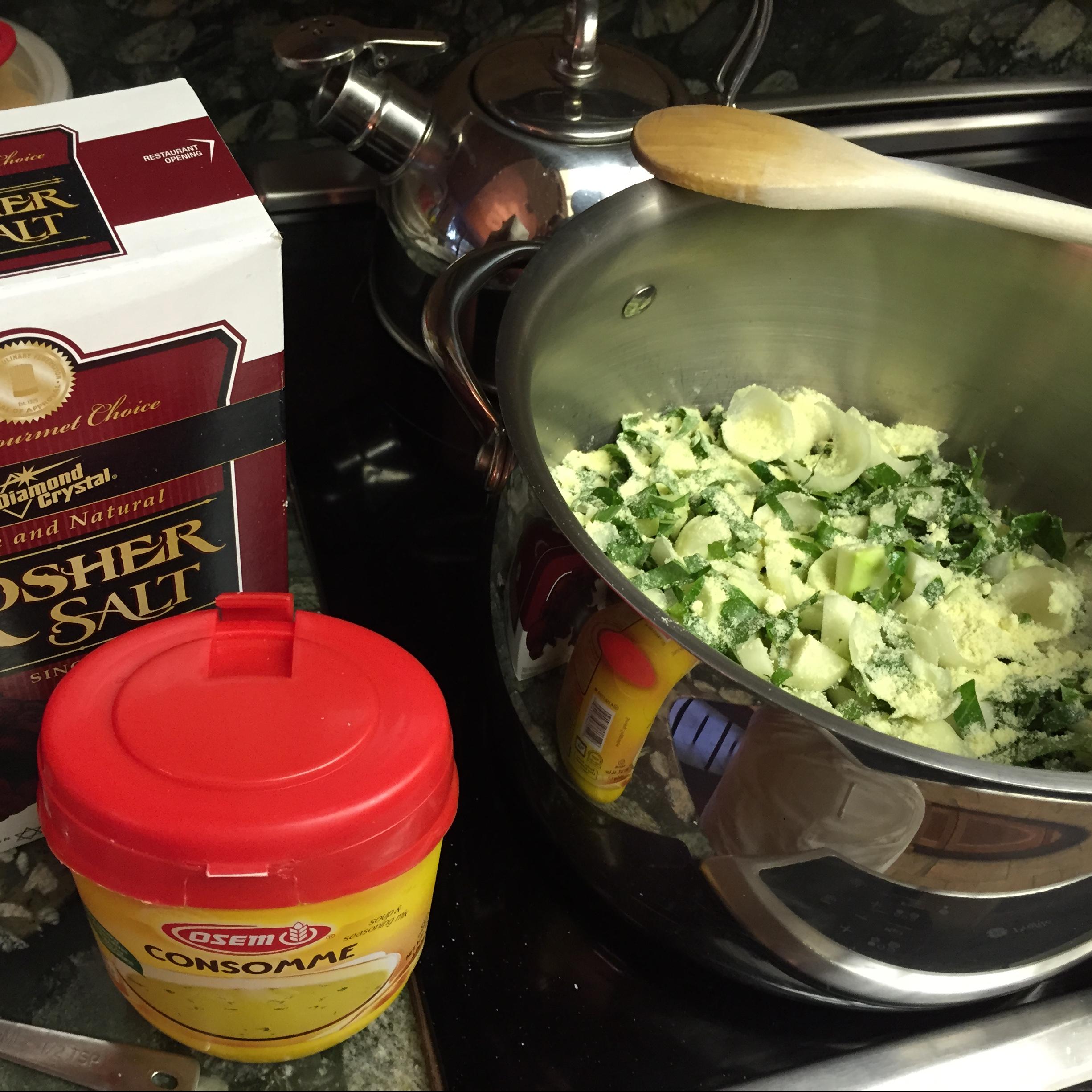 cooking kohlrabi pieces